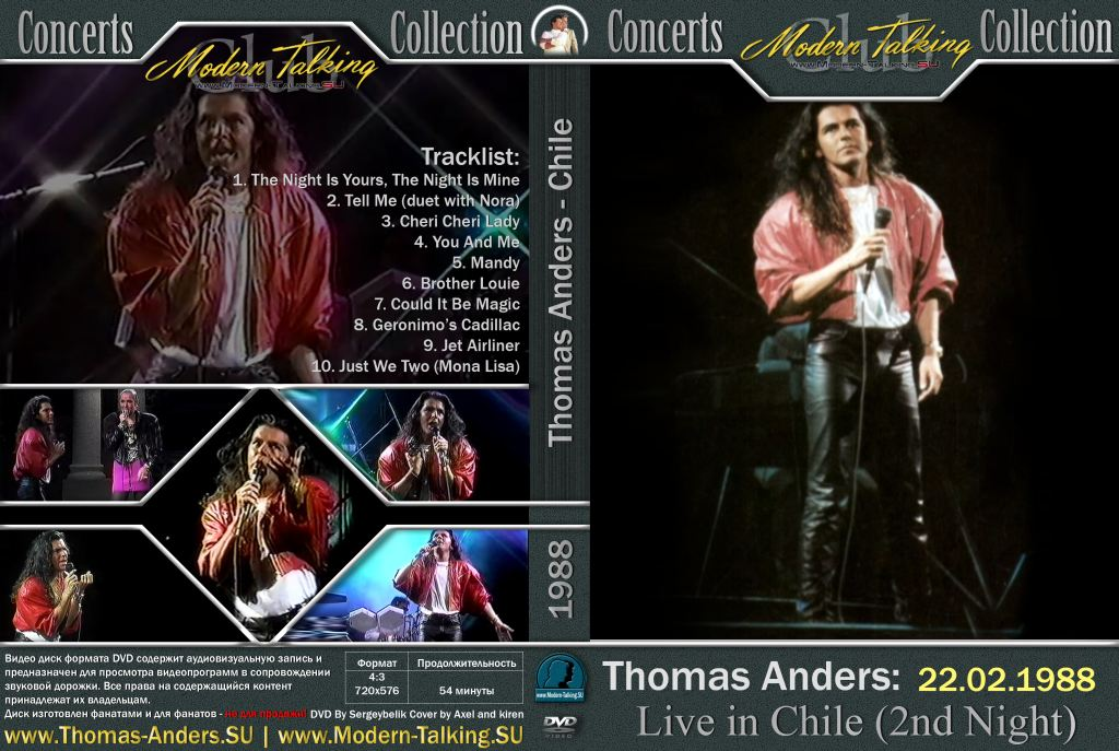 DVD Thomas Anders - Chile 1988 (2nd Night)